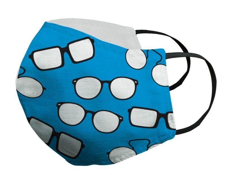 Mascarilla azul gafas negras Porsy