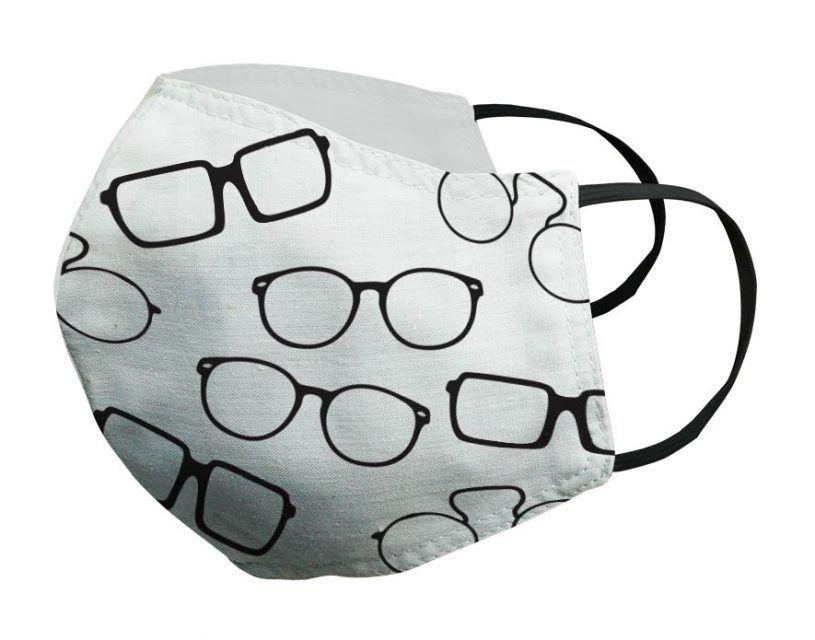 Mascarilla blanca gafas negras Porsy