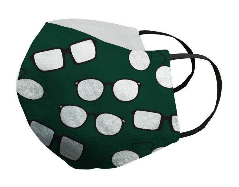 Mascarilla verde gafas negras Porsy